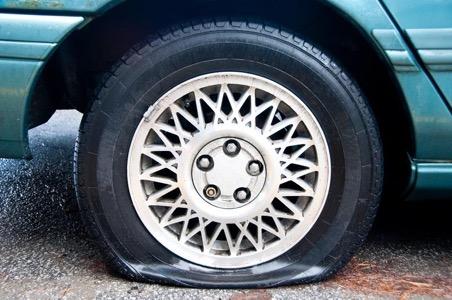 Проколотая шина