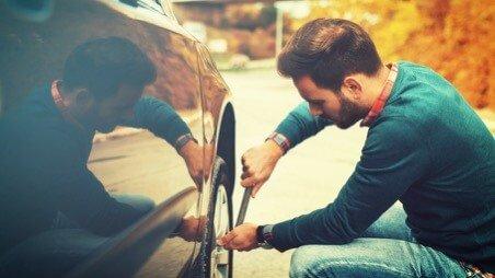 ремонт шины в дороге