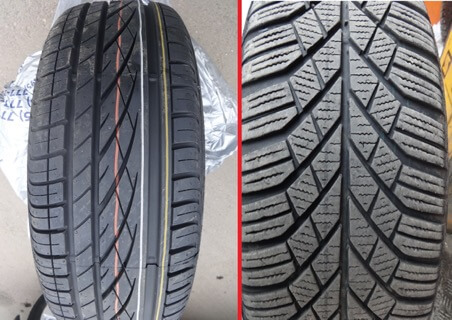разные шины использовать на автомобиле нежелательно