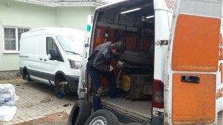 разбортировка колеса перед ремонтом